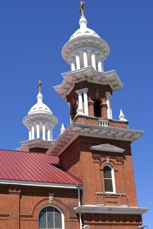 reno: Church steeples and crosses in downtown Reno Nevada