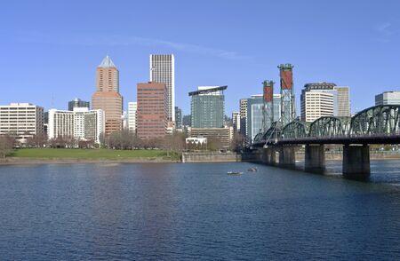 willamette: Portland OR , skyline and the Willamette river