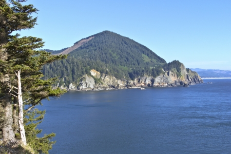 Cape Falcon viewpoint on Oswald West state park Oregon  Stock Photo - 19604606
