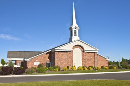 house of worship: Architecture of a Church of Latter-day Saints in Twin Falls Idaho  Stock Photo