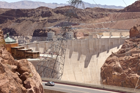 powe: Hoover Dam electrical power pland Nevada  Stock Photo