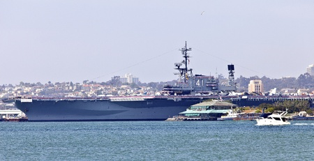 Battleship Midway a museum in San Diego harbor California