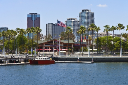 Long Beach architecture and marina