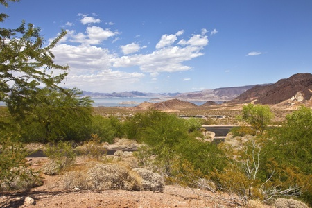 meade: Lake Meade and a view of the surrounding landscape near Hoover Dam Nevada