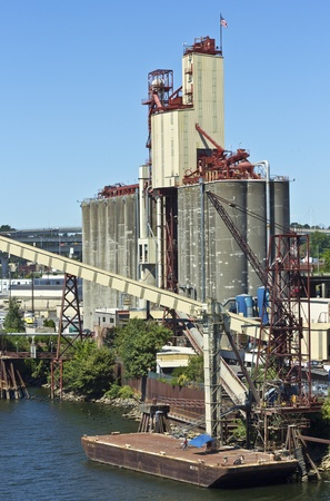 Grain elevator dispenser without cargo Portland Oregon  Editorial