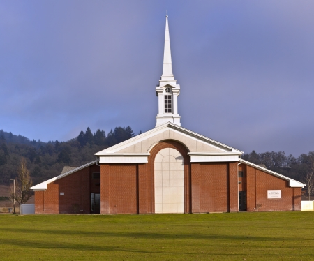 Architecture of a Church of Latter-day Saints Willamette Valley Oregon photo