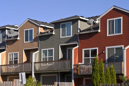 Row of neighborhood houses Gresham Oregon Imagens - 29623577