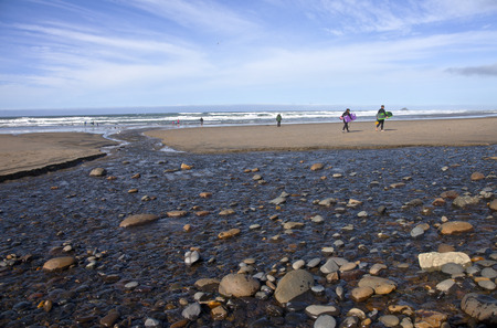 oregon coast: Oregon coast activities and hun outdoors. Editorial