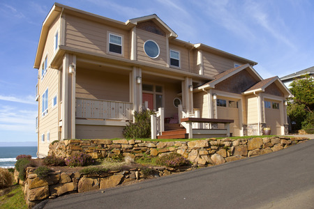 Real estate on the beach in Lincoln City Oregon.
