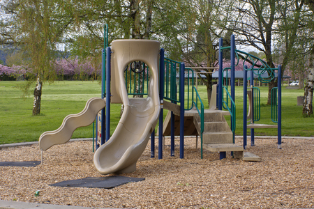 children playground: Children playground in a public park Oregon.
