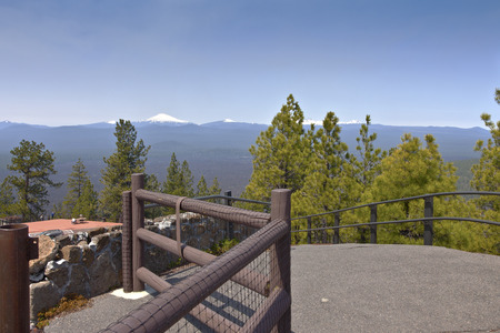 Viewpoint from top of Lava Butte in Central Oregon.