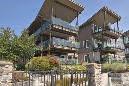 in wa: Waterfront modern residential condominiums Vancouver WA.