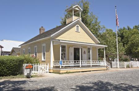 schoolhouse: Old Sacramento township schoolhouse museum California.