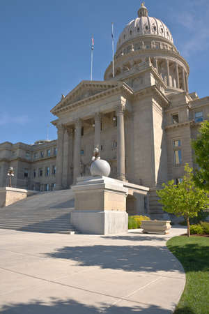 trooper: Boise Idaho state capitol building in downtown Boise. Stock Photo