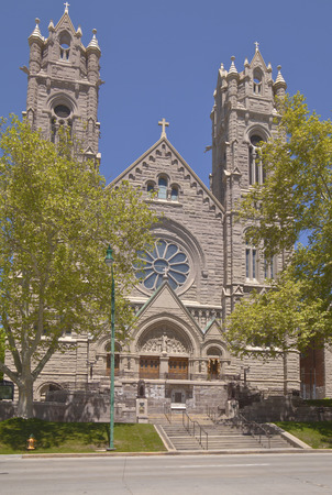 Catholic church Cathedral in Salt Lake city Utah. Imagens