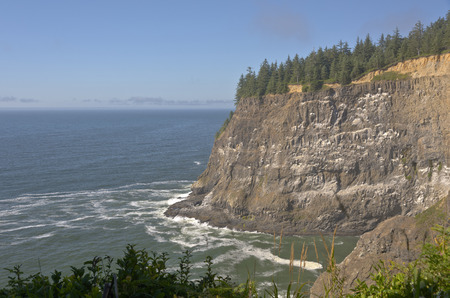Cape Meares beach cliffs and surroundings Oregon