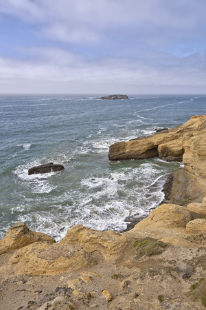 pacific ocean: Oregon coast nature cliffs and the pacific ocean. Stock Photo