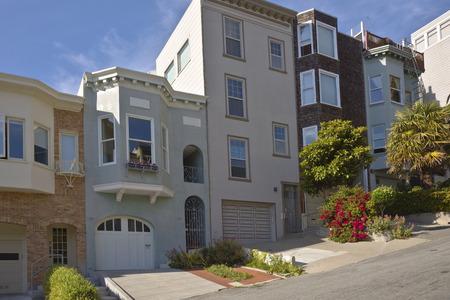coit tower: San Francisco neighborhood near Coit tower California. Stock Photo