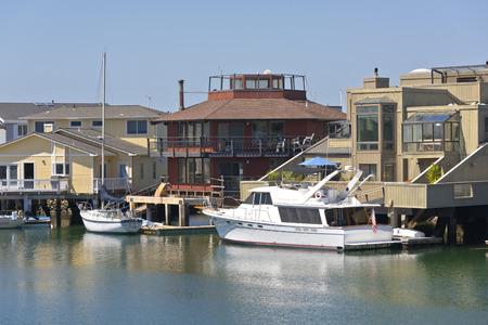 large doors: Richmond California marina community neighborhood community lifestyle. Stock Photo