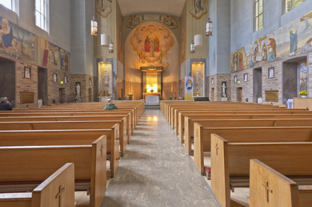 isles: Inside the church at the Grotto in Portland Oregon. Editorial