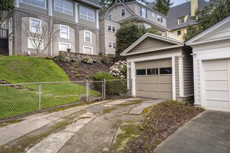 northwest: Neighborhood backyard in the western hills Portland Oregon.