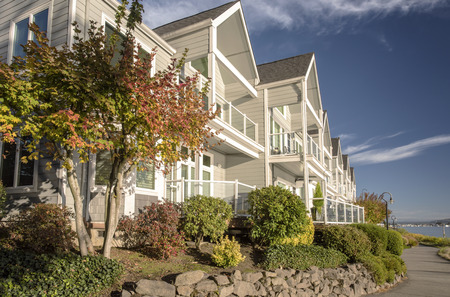 Riverfront real estate in Vancouver Washington.