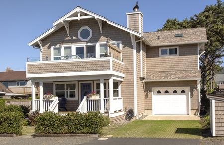 Mansion home beach property Canon Beach Oregon. Editorial