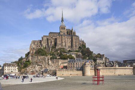 Mt. Sainbt Michel Abbey in Normandy France.
