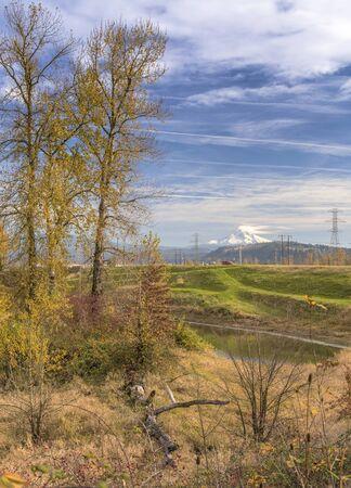 Colorful Autumn colors in a landscape Oregon state. Imagens
