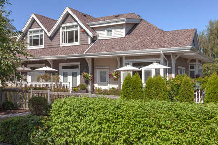 Residential homes architectural design & garden in Richmond BC Canada.