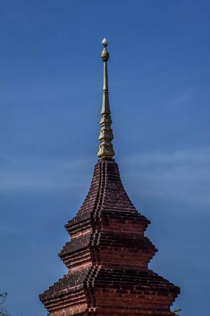 gautama buddha: pagoda and  sky