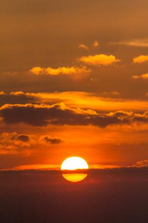 sunset light of nature photo