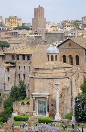View of the Roman Forum and bronze doors  Stock Photo - 4791713