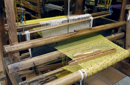 loom: An old fashioned loom