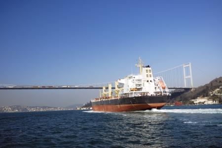 bosporus: Shipping at Bosporus, Istanbul, Turkey