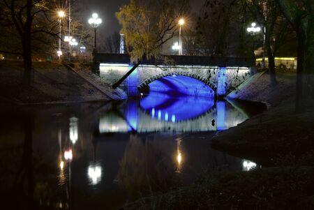 reflektion: Historic center of Riga, in Latvia.  Stock Photo