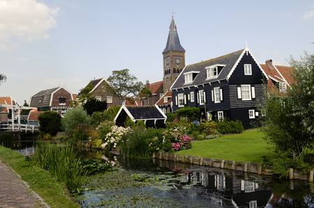 marken: Houses on the island of Marken  Netherlands