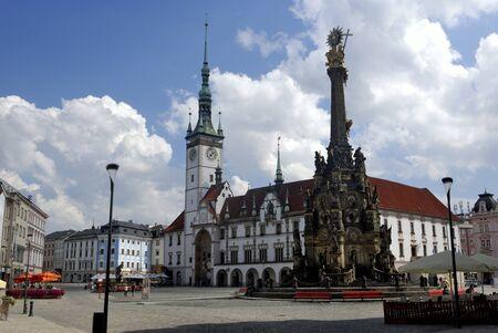 olomouc: Holy Trinity Column and Town Hall in Olomouc, Czech Republic