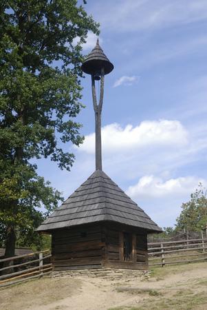 czech culture: Belfry in open-air museum in Roznov, Czech Republic
