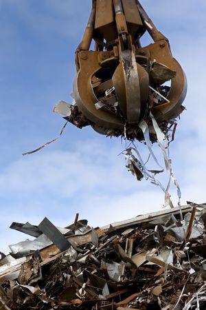 crane grabber loading a metal garbage Stock Photo - 5223022