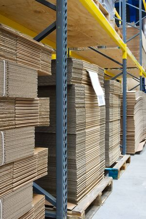 industrial Warehouse with cardboard Stock Photo - 5529614