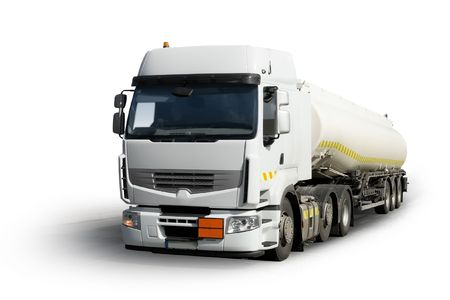 fuel truck isolated Stock Photo