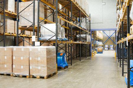 warehouse interior: industriale Warehouse Interni