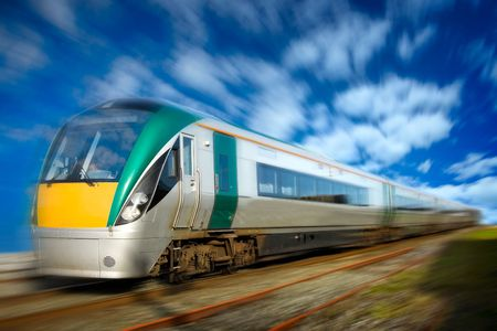 modern intersity passenger train in motion and blurred background Stock Photo - 5906530