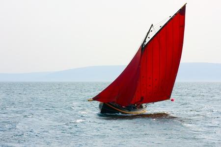 Galway prostituées est un bateau de pêche traditionnel sur la côte ouest de l'Irlande Banque d'images