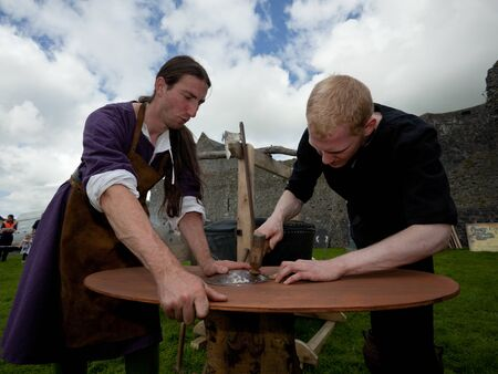 ATHENRY, IRELAND - AUGUST 21: People from Eireann Edge displays workshops at annual National Walled Towns Day  on August 21, 2011 in Athenry, Ireland. Stock Photo - 10354464
