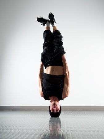 Young man breakdancing in the room Stock Photo - 13110325