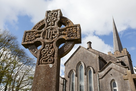Celtic Stone cross and Athenry Heritage Center photo