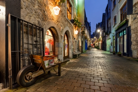 Old street in Galway city Stock Photo