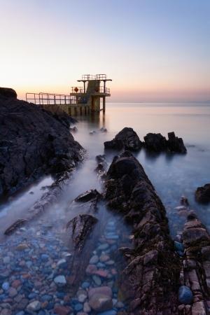 blackrock: Before the Sunrise at Blackrock diving board. Salthill, Galway